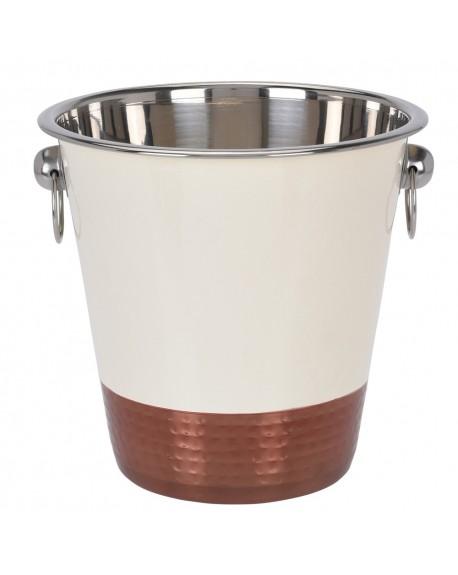 Cooler metalowy biało-miedziany
