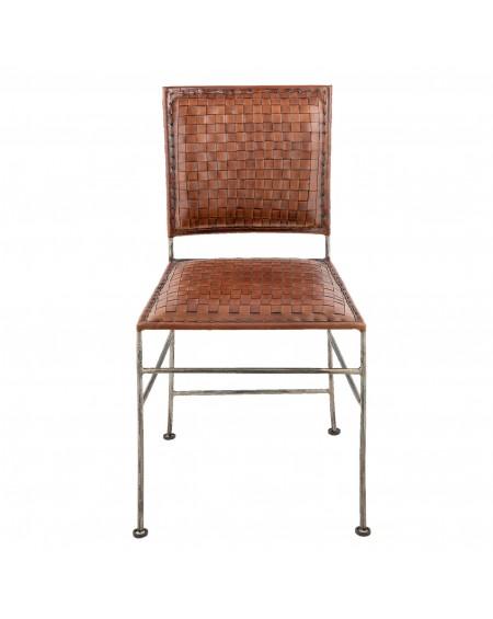 Krzesło metalowe Leather