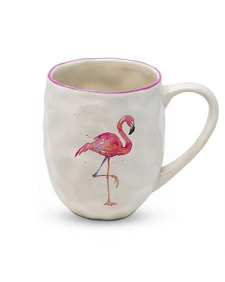 Kubek porcelanowy flaming różowy