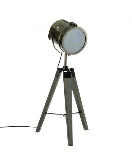 Lampa reflektor stołowa z metalu w kolorze brązu