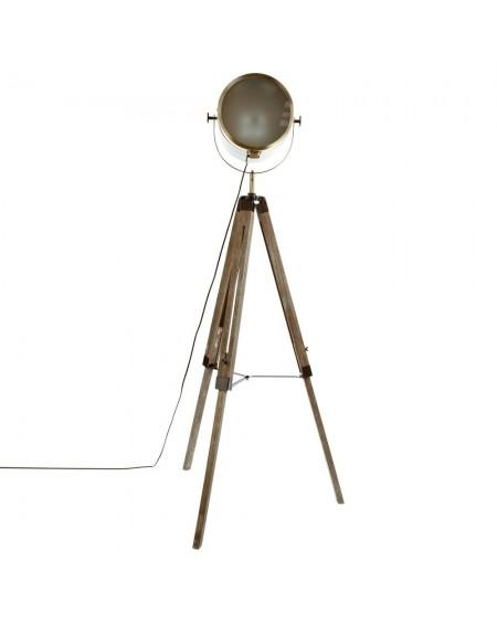 Lampa podłogowa trójnóg brązowa
