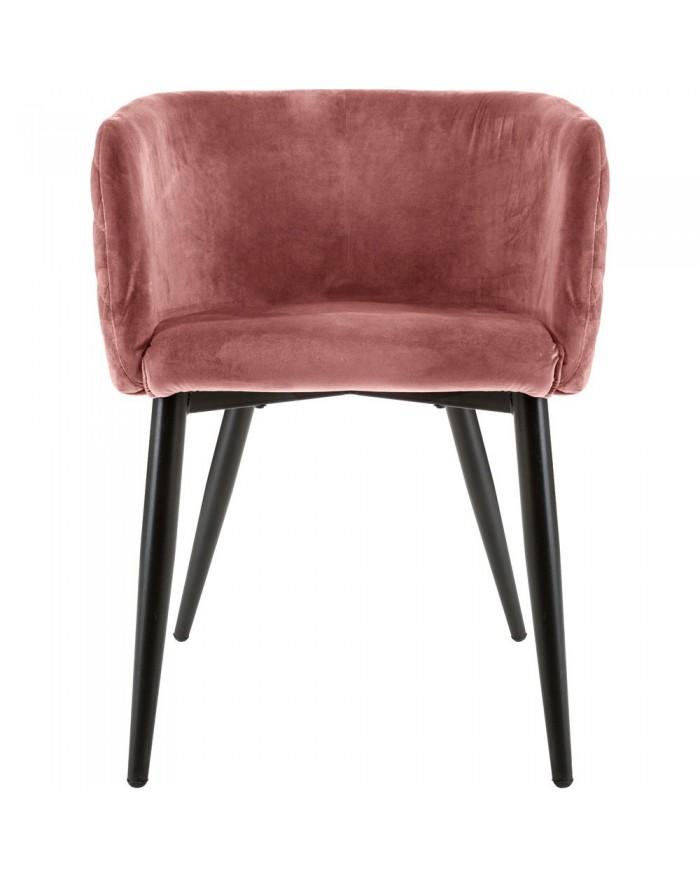 Krzesło Fotel tapicerowany brudny róż Filly MIA home passion