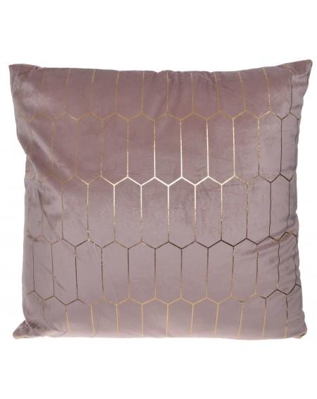 Poduszka welurowa plastry miodu