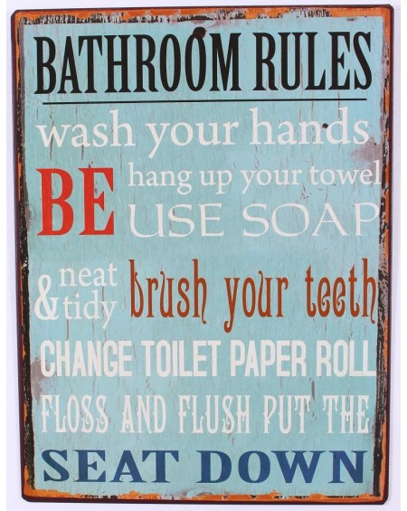 Szyld metalowy Bathroom Rules