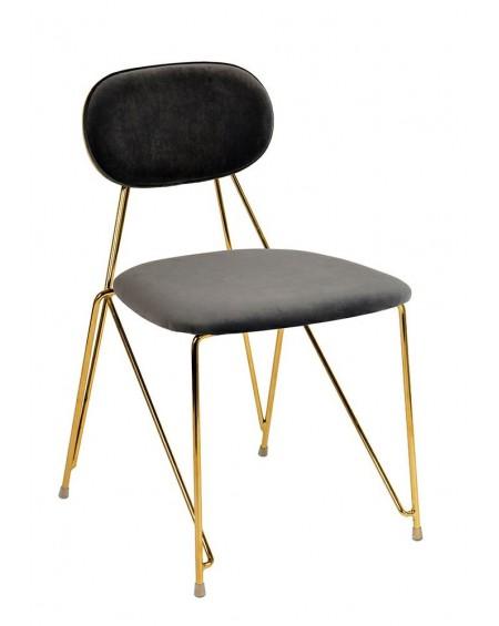 Krzesło welurowe Molia