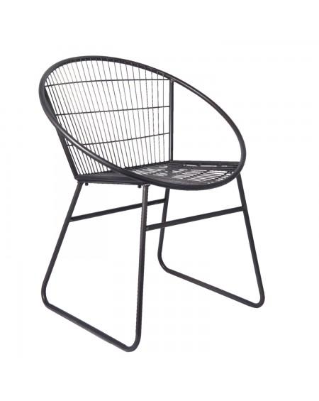 Krzesło metalowe Milazo czarne duże