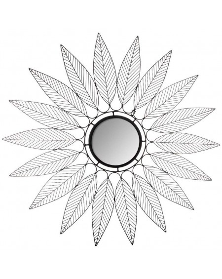 Lustro metalowe Liście 91 cm