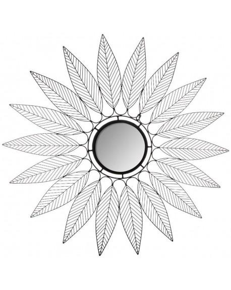 Lustro metalowe Liście