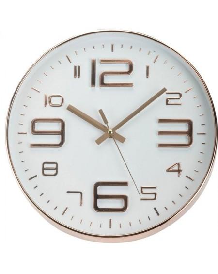 Zegar okrągły miedziany