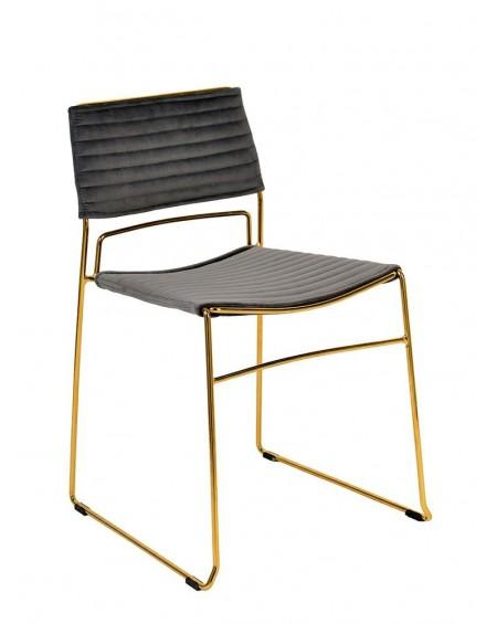 Krzesło Julus ciemnoszare