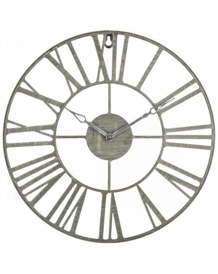 Zegar ścienny Loft szary 37 cm