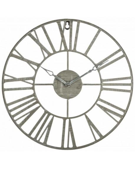 Zegar ścienny Loft szary 38 cm