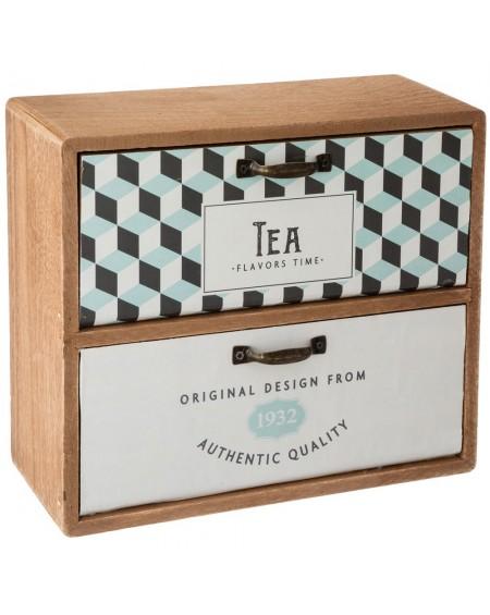 Pudełko szafeczka na herbatę Vintage