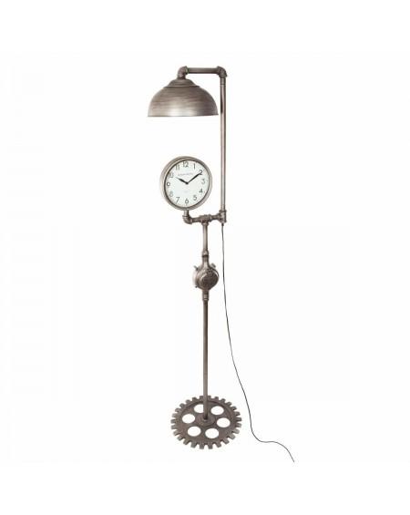 Lampa podłogowa oryginalna z zegarem