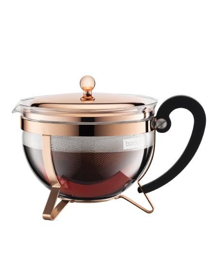 Zaparzacz tłokowy do herbaty 1,3l miedziany