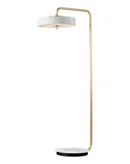 Lampa podłogowa Artis Floor biało-złota