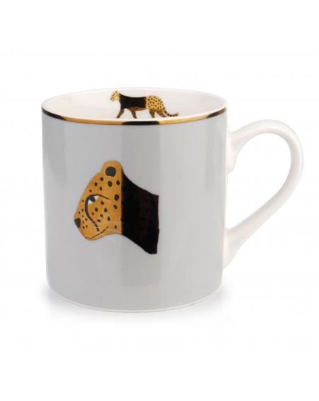 Kubek porcelanowy Africa Gepard gold