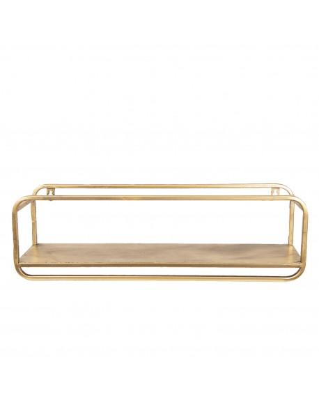 Półka metalowa stare złoto