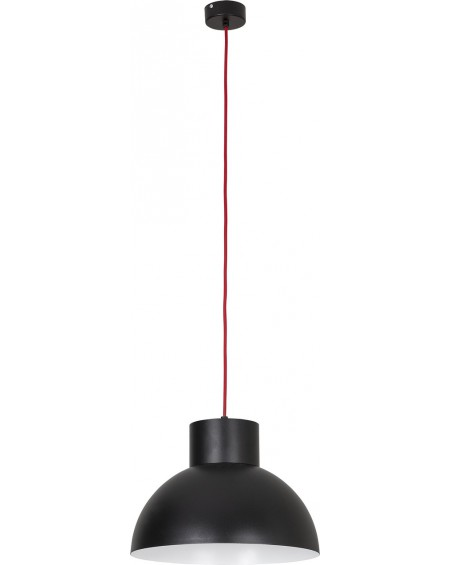 Lampa wisząca Loft black-red