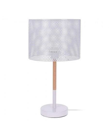 Lampa stołowa z ażurowym abażurem