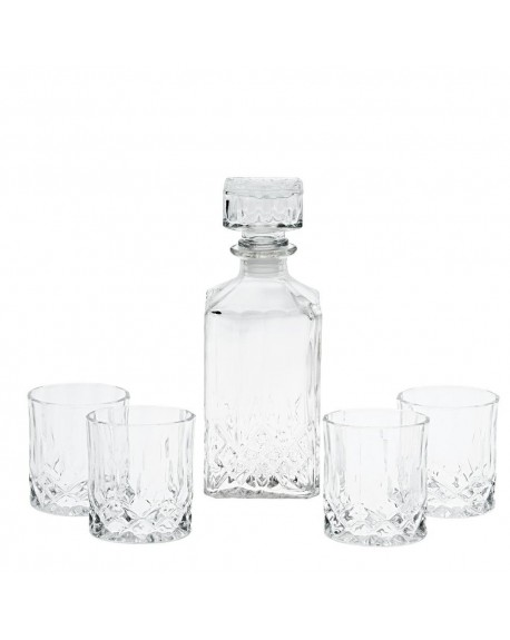 Karafka i szklanki do whiskey
