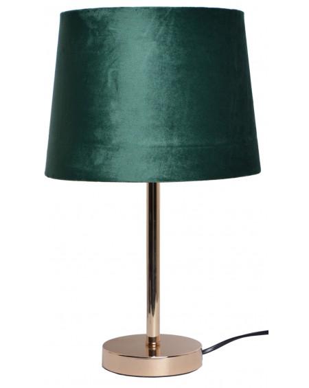 Lampa stołowa z welurowym abażurem