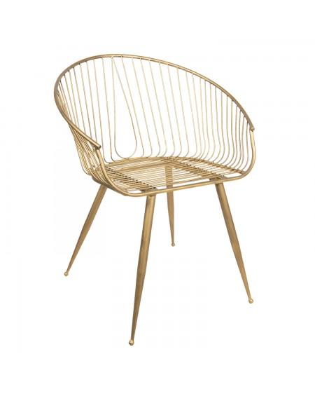 Krzeslo metalowe złote Samanta