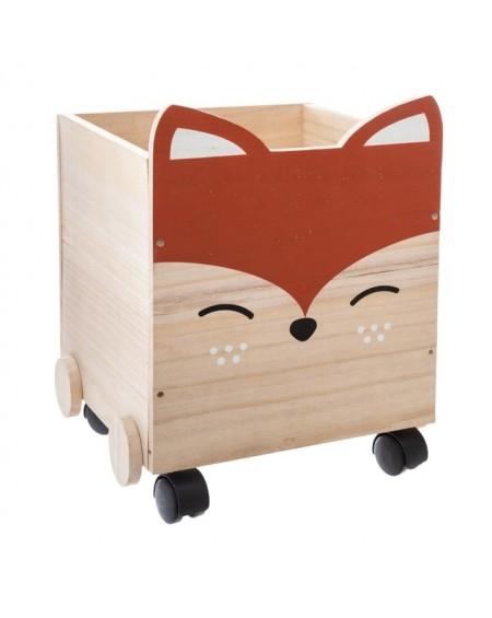 Pojemnik drewniany na zabawki