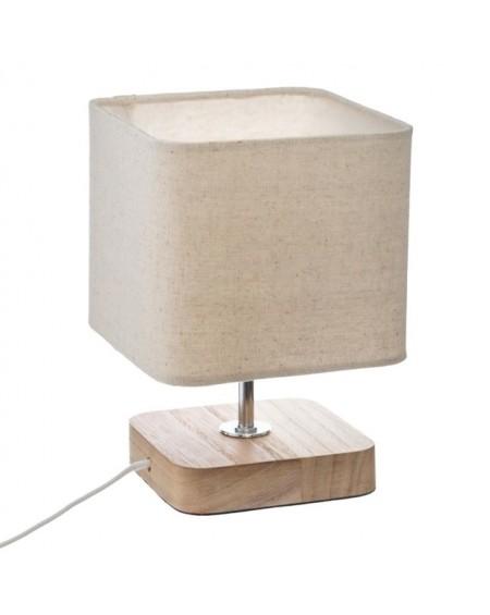 Lampa stołowa z kwadratowym abażurem
