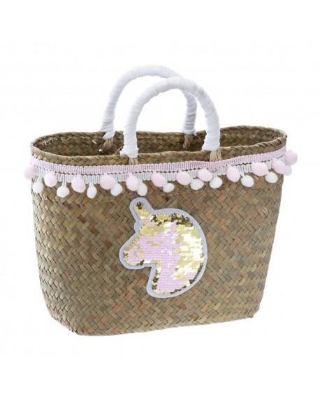 Koszyk z trawy morskiej MINI POMPONS