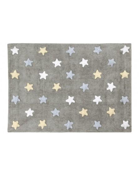 Dywan bawełniany Stars grey blue
