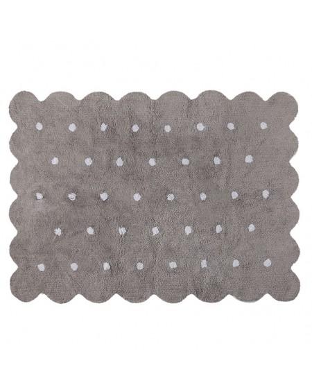 Dywan bawełniany Herbatnik grey