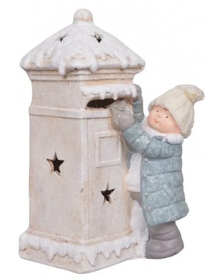 Figurka świecąca Dziewczynka ze skrzynką na listy