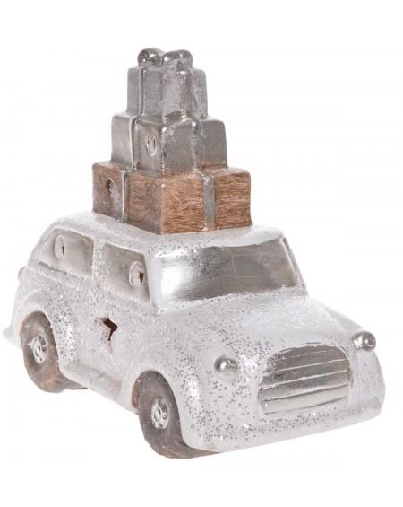 Auto LED białe z prezentami