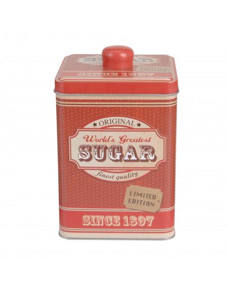 Puszka na cukier czerwona