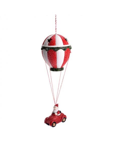 Figurka św. Mikołaja z balonem, 28 cm