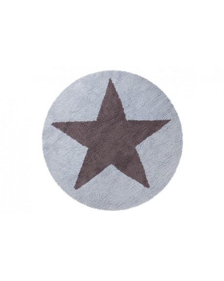Dywan okrągły dwustronny Star blue grey
