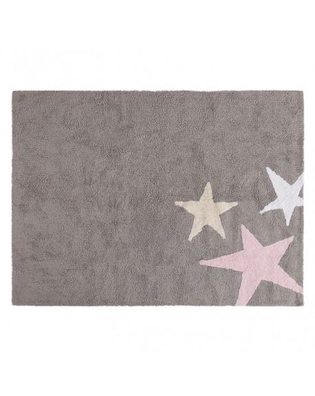 Dywan bawełniany Tres Estrelllas tricolor pink