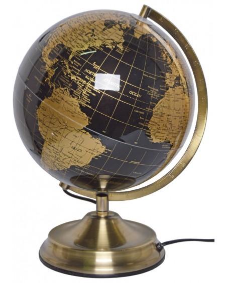 Globus metalowy podświetlany