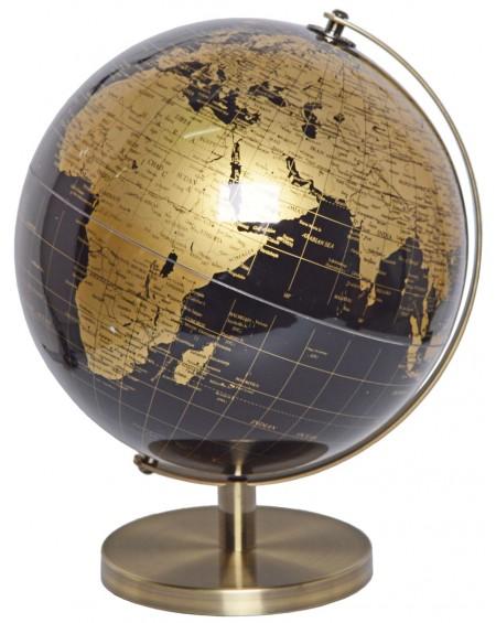 Globus metalowy stare złoto
