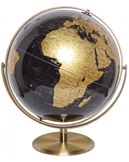 Globus metalowy stare złoto maxi