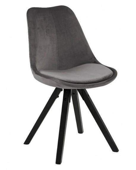 Krzesło tapicerowane welwet Marcus