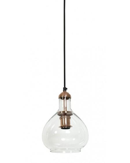Lampa wisząca Dalia miedź szkło