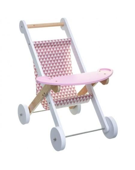 Zabawka wózek drewniany z tacką