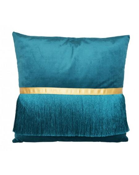 Poduszka aksamitna z frędzlami
