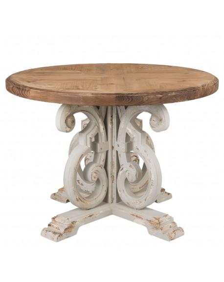 Stół drewniany okrągły Tiara