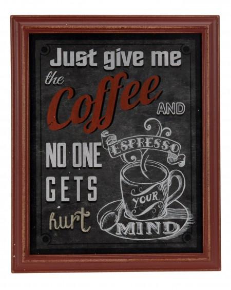 Dekoracja ścienna Give me the coffee