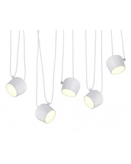 Lampa wisząca EYE 5 LED biała/czarna