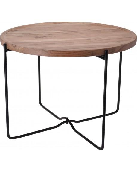 Stolik kawowy drewno metal Pedro