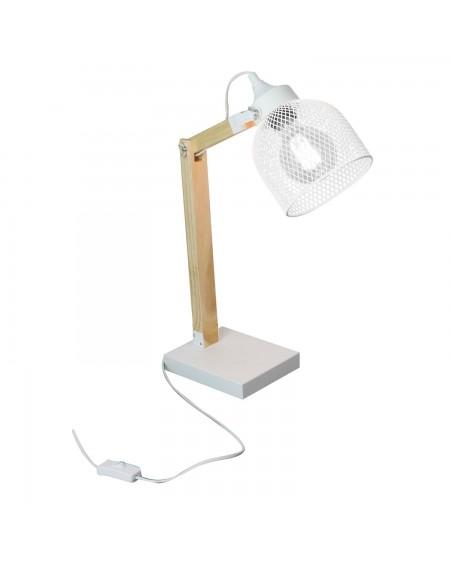 Lampa stołowa siateczka biała